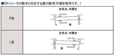 GOAL,ゴール MXT面付け箱錠サムピースハンドル型