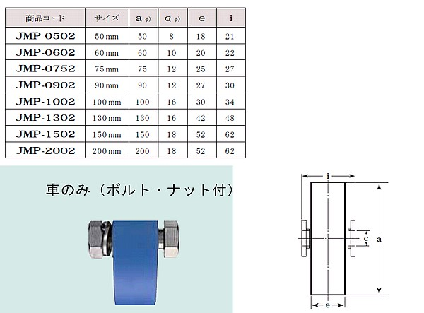 ヨコヅナ MC防音重量戸車 平型