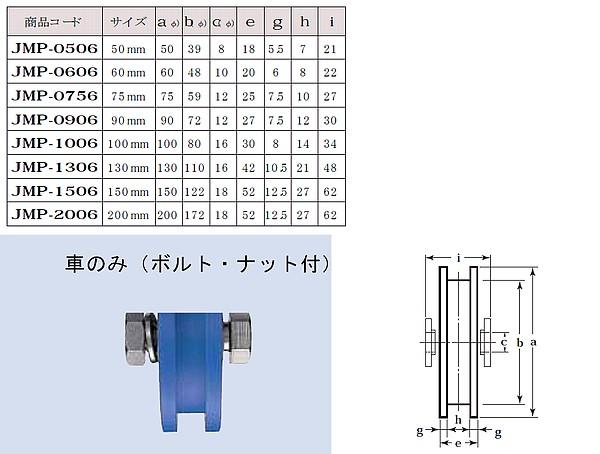 ヨコヅナ MC防音重量戸車 H型