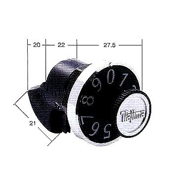 タジマMET96ダイヤル錠横吊り元