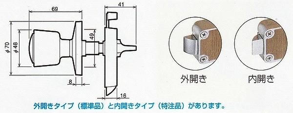 川口技研(GIKEN) ホームカラー表示錠I型トイレ用