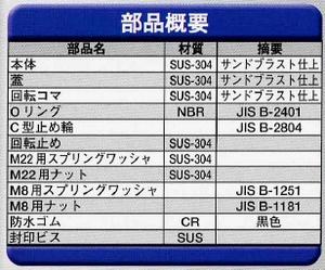 Geo Prince,ジョープリンス竹下 PH-52-SUSステンレス防水キーロット封印付