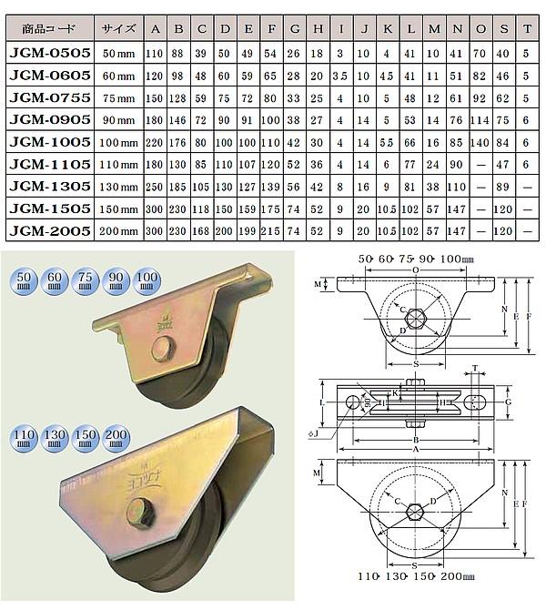 ヨコズナ S45C重量戸車 V型