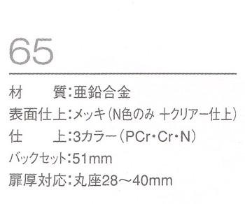 川口技研(GIKEN)65室内錠
