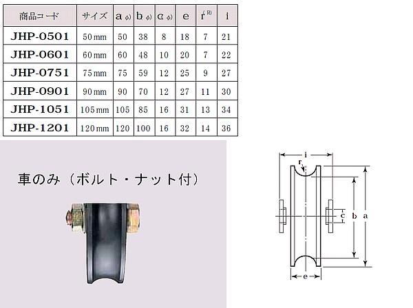 ヨコズナ 鉄重量戸車 溝R車型